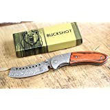 Wartech Buckshot Knives Thumb Open Spring Assisted Cleaver Classic Pocket Knife (PBK219DS) (Color: PBK219DS)