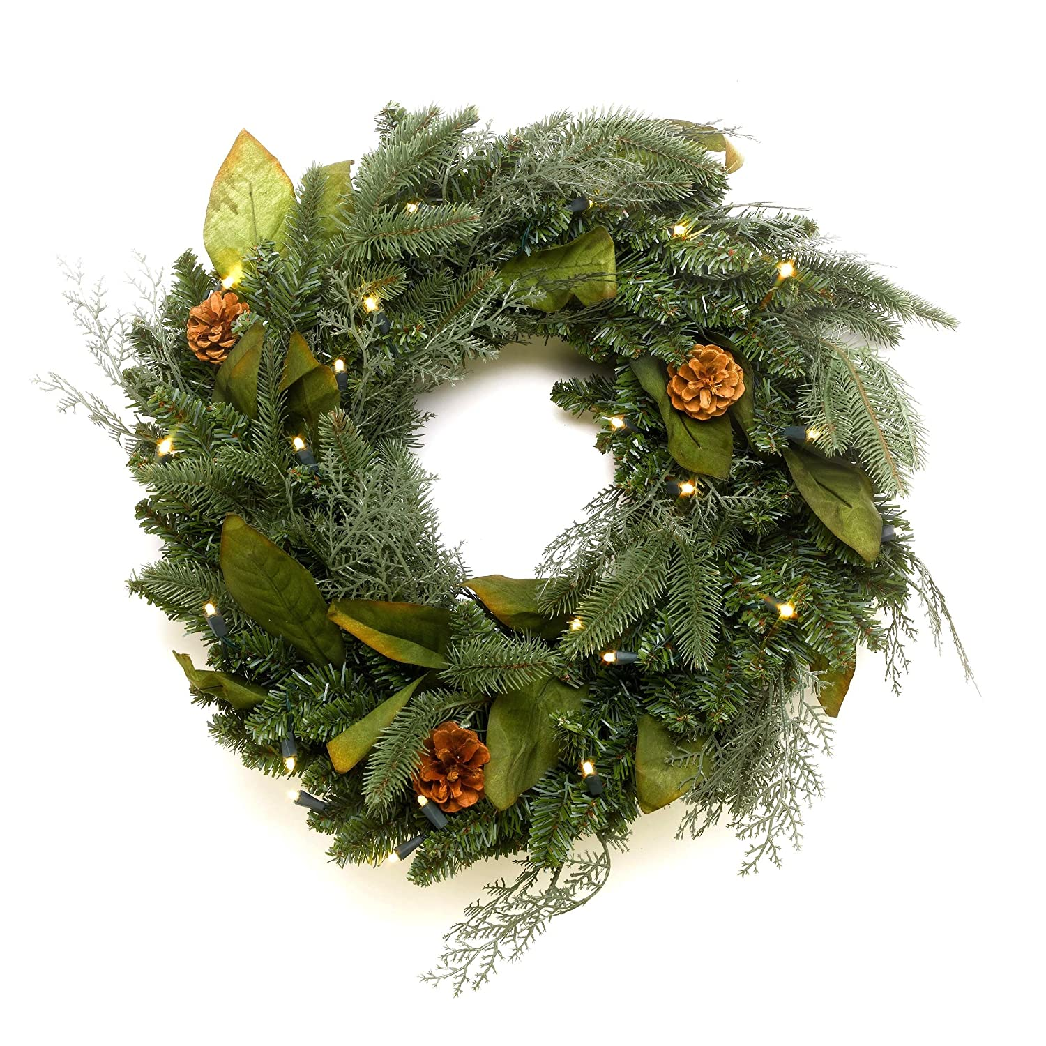 Bethlehem lights wreath battery operated - Gki Bethlehem Lighting 24 Gki Bethlehem Lighting 24 Green River Spruce Battery Operated Led Wreath