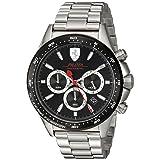 Scuderia Ferrari Men's 'Pilota' Quartz Stainless Steel Casual Watch, Color:Silver-Toned (Model: 0830393)