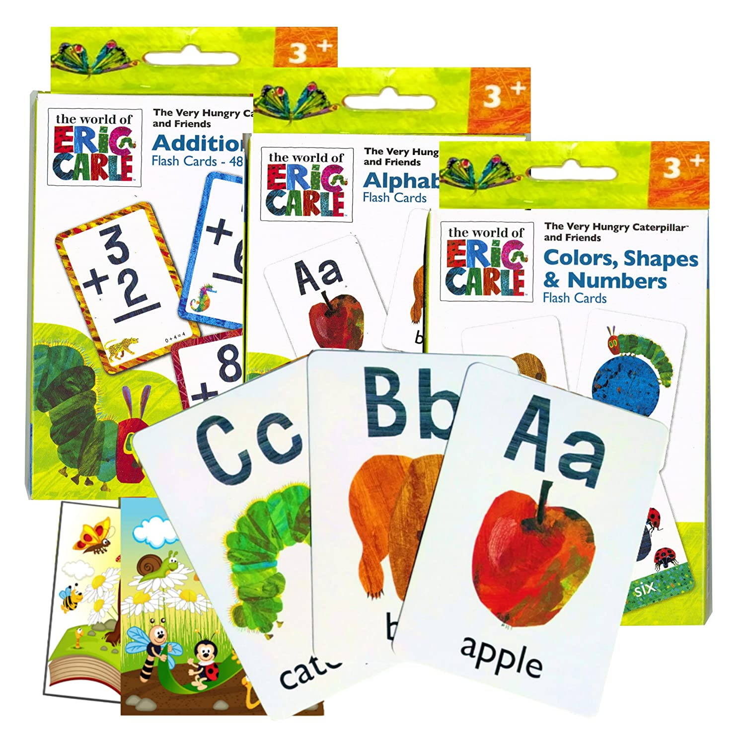 World of Eric Carle Flash Cards ~ ABC, Numbers, Colors, Shapes, and More! Plus 2 Bonus Reward Stickers