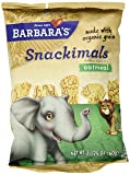 Barbara's Bakery Snackimals Animal Cookies, Oatmeal, 2.125-Ounce Bags (Pack of 18)