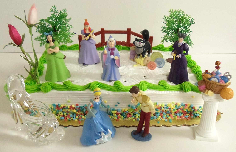 Cinderella Birthday Party Cake Toppers Birthday Wikii
