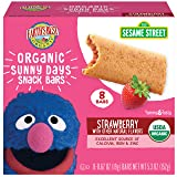 Earth's Best Organic Sesame Street Sunny Day Toddler Snack Bars with Cereal Crust, Strawberries, 8 Count Box (Pack of 6) (Tamaño: Pack of 6)
