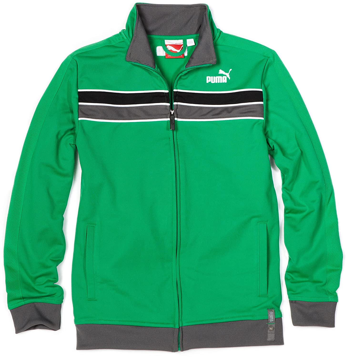 Special Price Clothing Best Buy Puma - Kids Boys 8-20 Linear Track Jacket