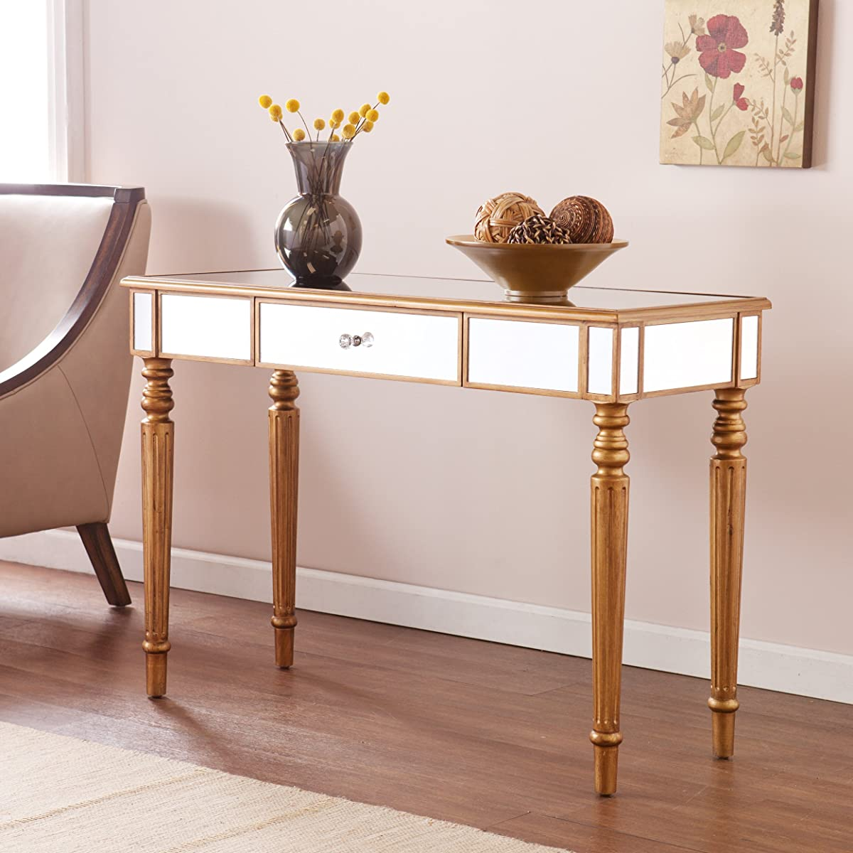 Southern Enterprises Brandilyn Mirrored Media Console