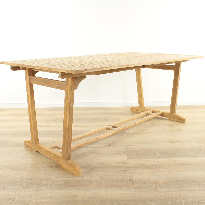 TEAK Gartentisch Ausziehtisch 170 – 230 x 100 Gartenmöbel Tisch Teakholz kaufen