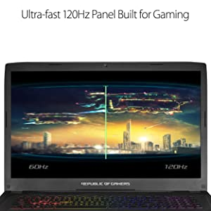 ASUS ROG Strix Gaming Laptop, 17 Full HD 120Hz Panel, Intel Core i7 2.8GHz GTX 1080 8GB, 16GB DDR4 256GB PCIe SSD 1TB HDD, Black Aluminum Hairline (GL702VI-WB74) (Color: Black Aluminum Hairline, Tamaño: 17-30.99 inches)