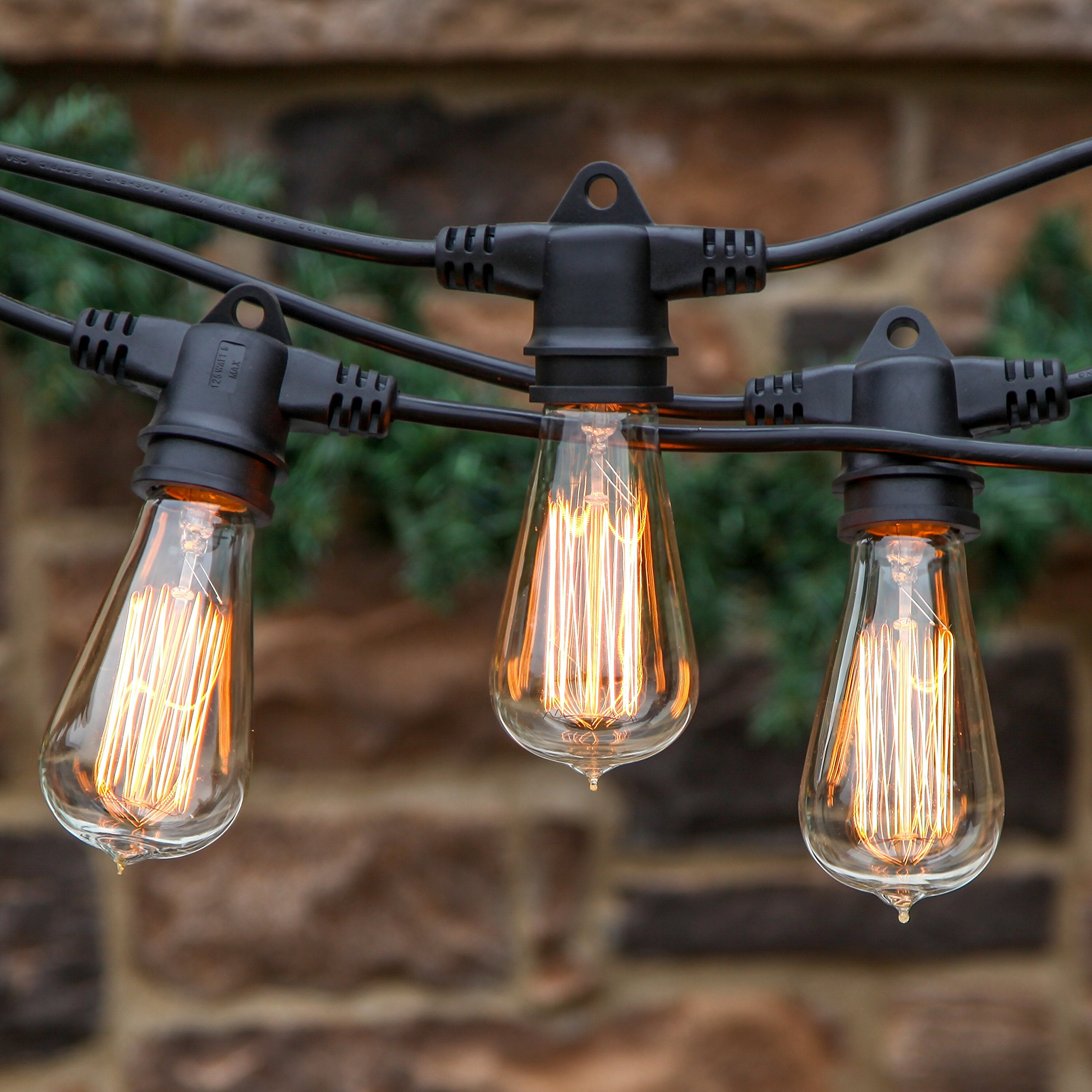 Solar Outdoor String Lights Costco: Ambience Pro Vintage Edition Outdoor