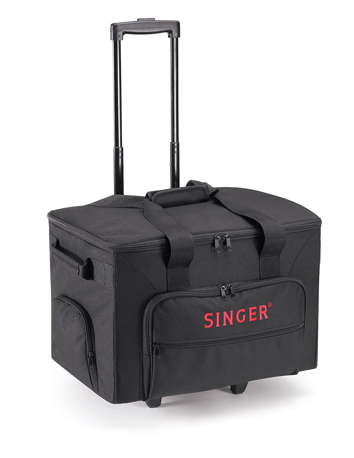 Singer rolling sewing machine accessories tote carry