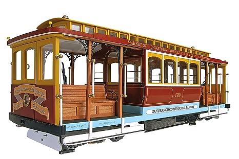 Maquette en bois - Tramway de San Francisco : California Street