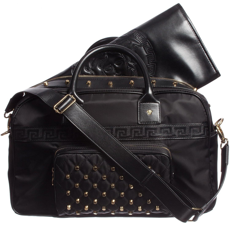 diaper bag leather designer  nylon & leather