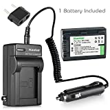 Kastar NP-FH50 Battery (1-Pack) and Charger Kit for Sony DSLR-A230 DSLR-A330 DSLR-A290 DSLR-A380 DSLR-A390 HDR-TG1E HDR-TG3 HDR-TG5/5V HDR-TG7 DSC-HX1 DSC-HX200 DSC-HX100V DCR-SX41/SX41L/SX41R (Tamaño: 1 battery + 1 charger.)