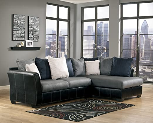 Masoli Sectional Cobblestone/Chaise Right