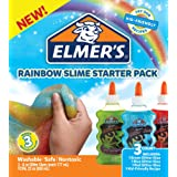 Elmer's Rainbow Slime Starter Kit with Green, Blue and Red Glitter Glue, 6 Ounces Each, 3 Count (Color: Rainbow, Tamaño: Bundle)