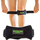 Marquee Sports Patella Knee Strap for Running, Basketball, and Hiking by Adjustable Patellar Tendon Pain Relief and Support Brace from Jumper's Knee, Chondromalacia, and Tendonitis/Black (Color: Green)