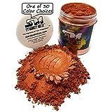 Stardust Micas Metallic Mica Pigment Powder Cosmetic Grade for Soap Making, Epoxy Resin, Makeup, Coloring Slime, Bright True Colors Stable Mica Colorant Copper Nugget (Color: Copper Nugget, Tamaño: 72 Gram Jar)
