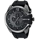 Diesel Men's Chief Series' Quartz Stainless Steel and Silicone Casual Watch, Color:Black (Model: DZ4378) (Color: Black)