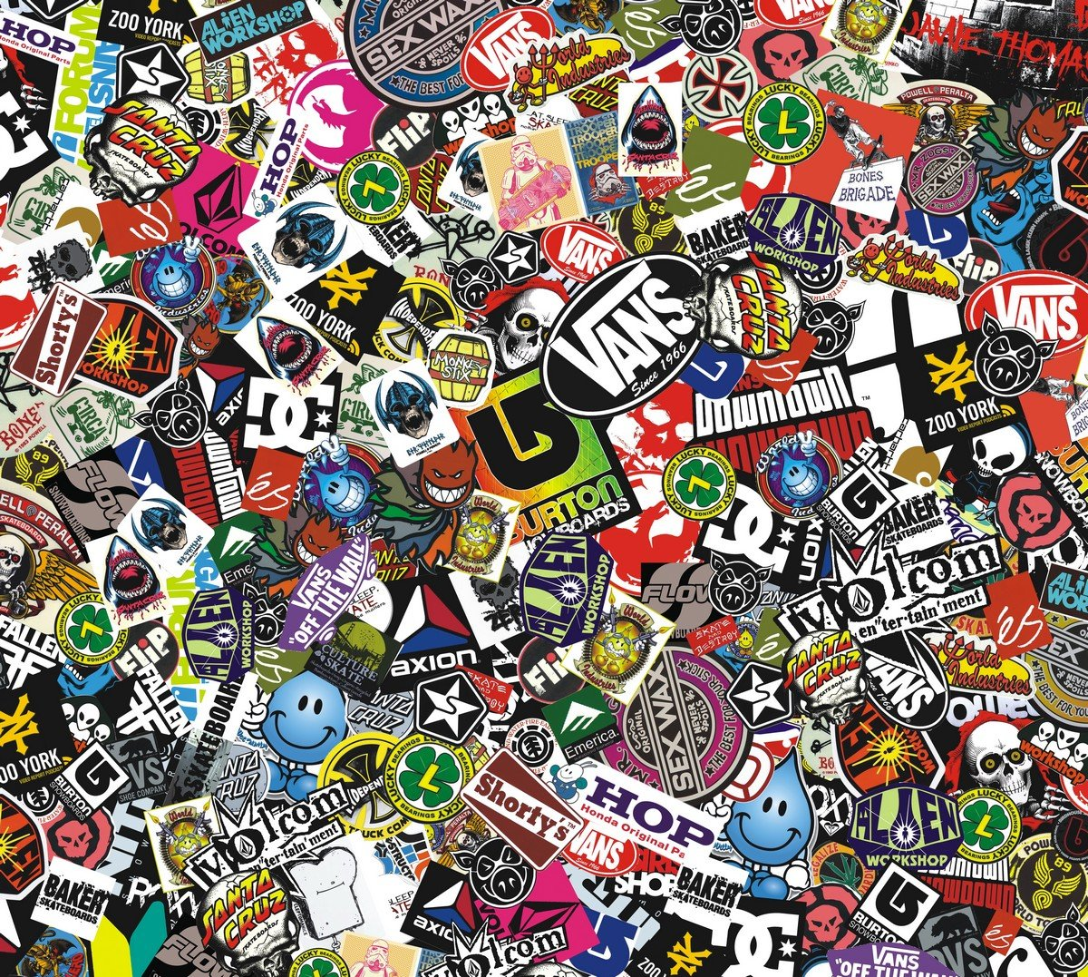sticker bomb wallpaper cartoon - photo #36