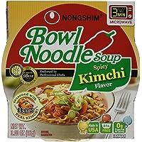 12-pack Nongshim Bowl Spicy Kimchi Noodle Soup, 3.03 Ounce