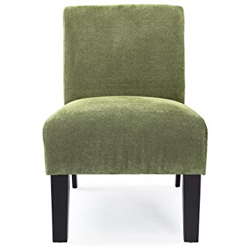 Fabric Slipper Dinning Chair Solid Pattern By DHI Upholstered Comfortable Modern Seat Dinning Room Chairs Set Furniture (Green)