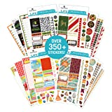 Paper House Productions SET0016 Seasonal Weekly Kit Planner Sticker Bundle includes 16 Sheets 4 Themes