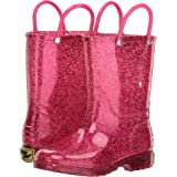 Western Chief Girls' Glitter Waterproof Rain Boot, Pink, 7 M US Toddler (Color: Pink, Tamaño: 7 M US Toddler)