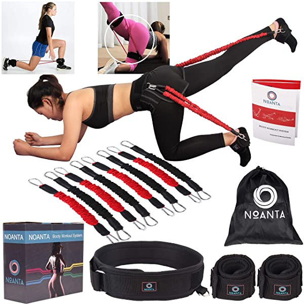 Kinetic Speed Agility Resistance Bands w Ankle Straps Strength Training Fitness