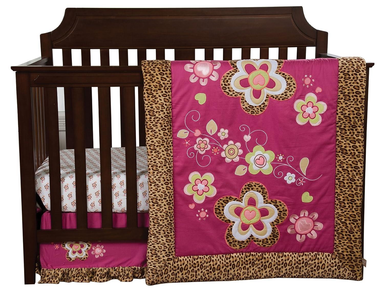 Trend Lab Berry Leopard 3 Piece Crib Bedding Set