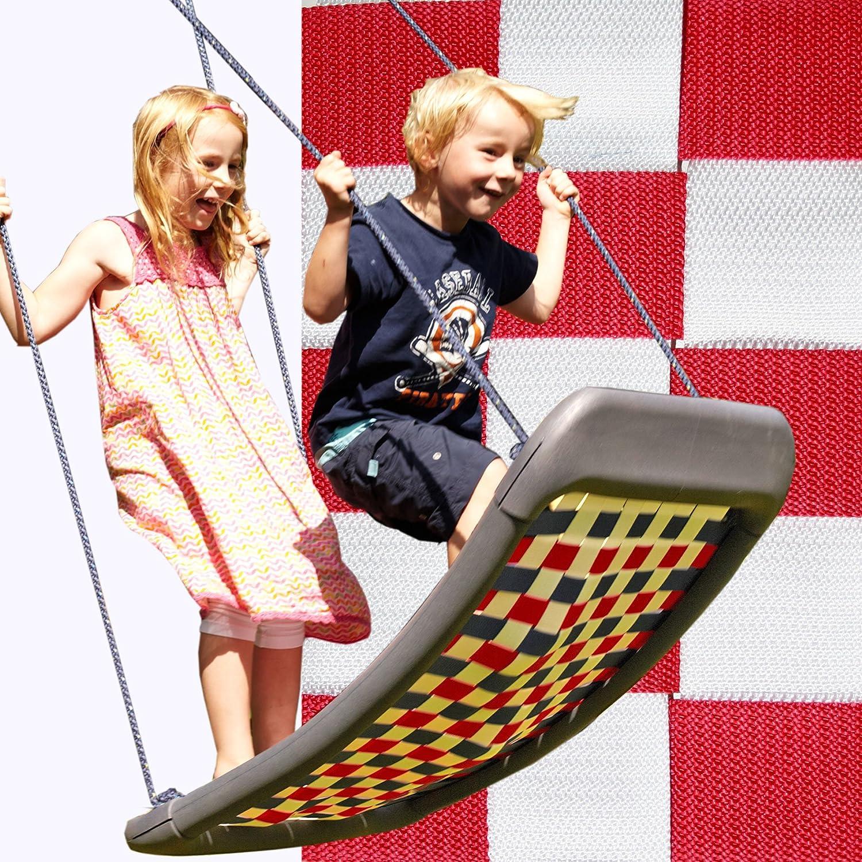 Kleine Mehrkindschaukel STANDARD weiß/rot für 2 Kinder, 109 x 53 cm (SPR.M.105) – das Original direkt vom Hersteller die-schaukel.de günstig bestellen