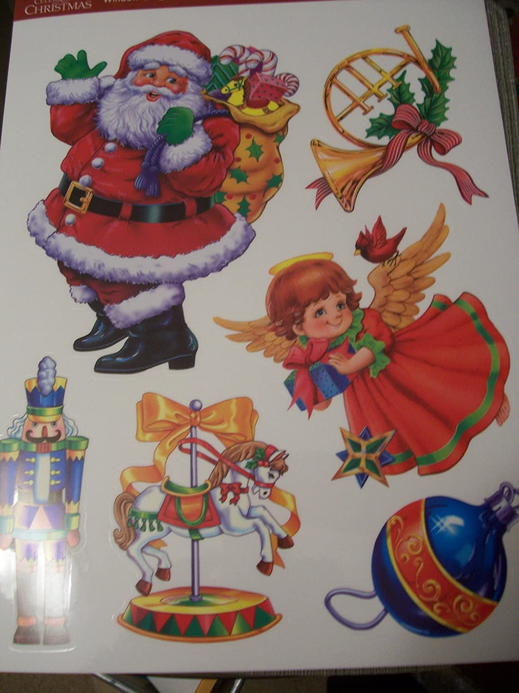 Celebrate it Christmas Window Clings - Santa, Angels, and More фильтр для воды новая вода au010