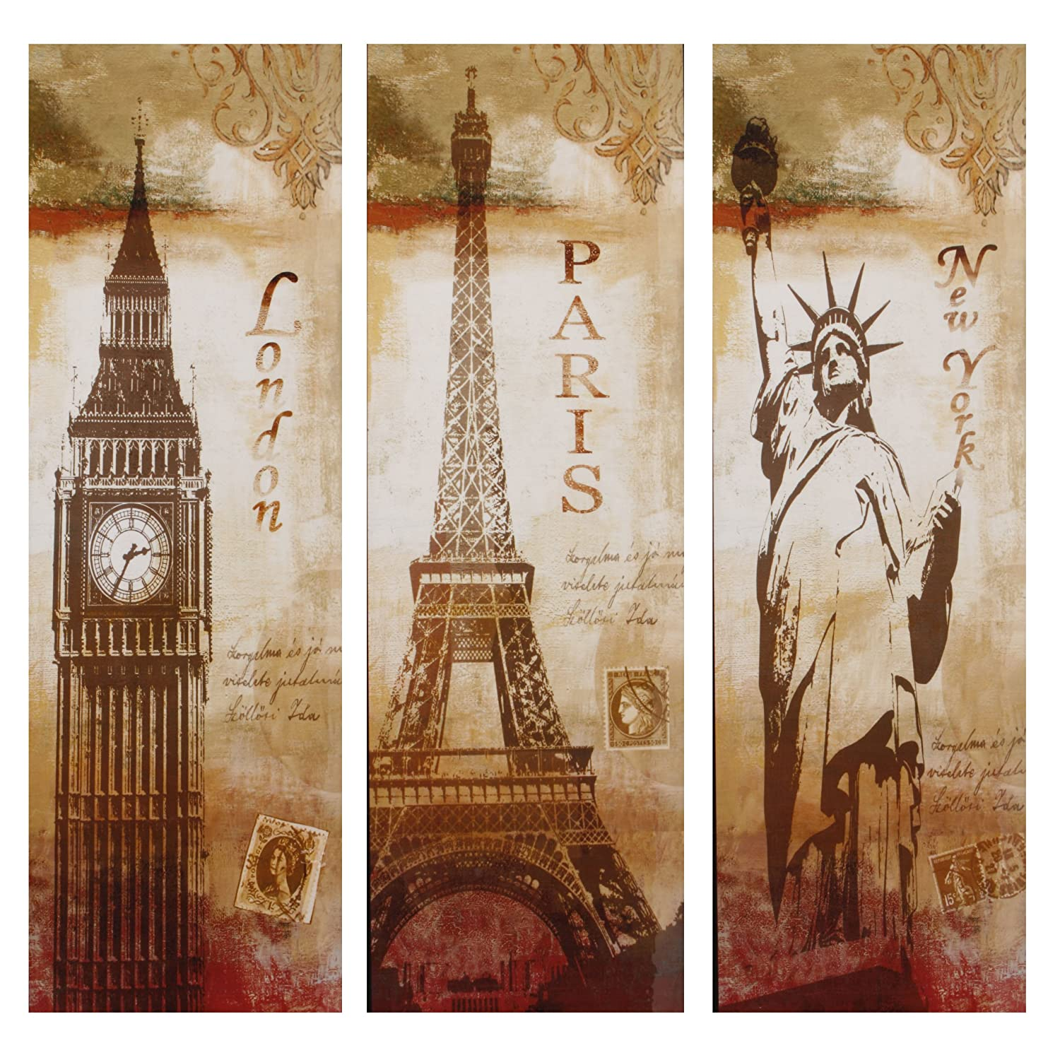 The gallery for gt london paris new york wall art for Paris wall art