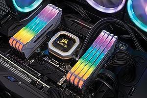 CORSAIR Vengeance RGB PRO 64GB (8x8GB) DDR4 3200MHz C16 LED Desktop Memory - White (Color: RGB PRO - White, Tamaño: 64GB (8x8GB))