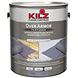 KILZ Over Armor Textured Wood/Concrete Coating, 1 gallon, Slate Gray (Color: Slate Gray, Tamaño: 1 Gallon)