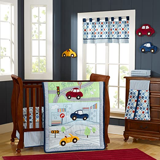 Laugh Giggle and Smile My Little Town Baby Bedding