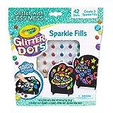 Crayola Glitter Dots, Glitter Art Mosaics, Sparkle Fills, Gift for Kids, 5, 6, 7, 8 (Color: Glitter Fills)