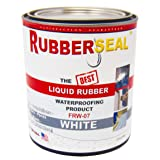 Rubberseal Liquid Rubber Waterproofing and Protective Coating - Roll On WHITE 16 ounces (16 ounces) (Color: White, Tamaño: 16 ounces)