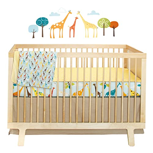 Skip Hop Complete Sheet 4 Piece Crib Bedding Sets Giraffe Safari