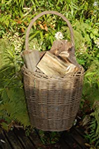 Heavy Duty,Large Woven Ash Wicker Log Trolley / Shopping Trolley       Customer reviews