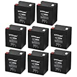 (8 Pack) ExpertPower EXP1245 12V 4.5 Amp Rechargeable Battery for Security Systems (Tamaño: 8-Pack)