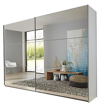 Wimex 974805 Schwebeturenschrank, 225 x 210 x 65 cm, korpus alpinweiß / front spiegel
