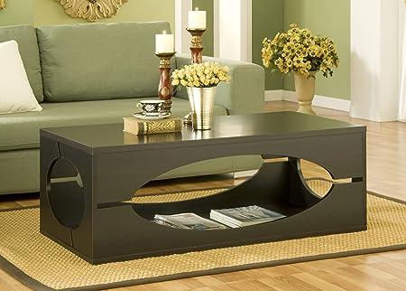 Furniture of America Somer Rectangular Coffee Table, Cappuccino