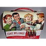 Coca Cola Retro Dome Shapped Tin Lunch Box