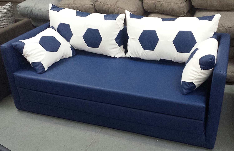Schlafsofa 2-sitzer XL 160 weiss blau jetzt bestellen