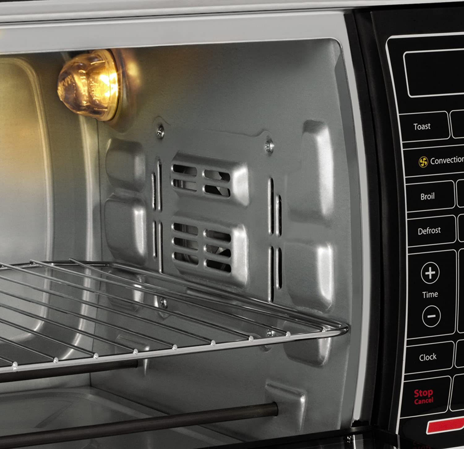 Largest Capacity Countertop Convection Oven : Toaster Oven Digital Microwave Cook Electric Control Large Interior ...