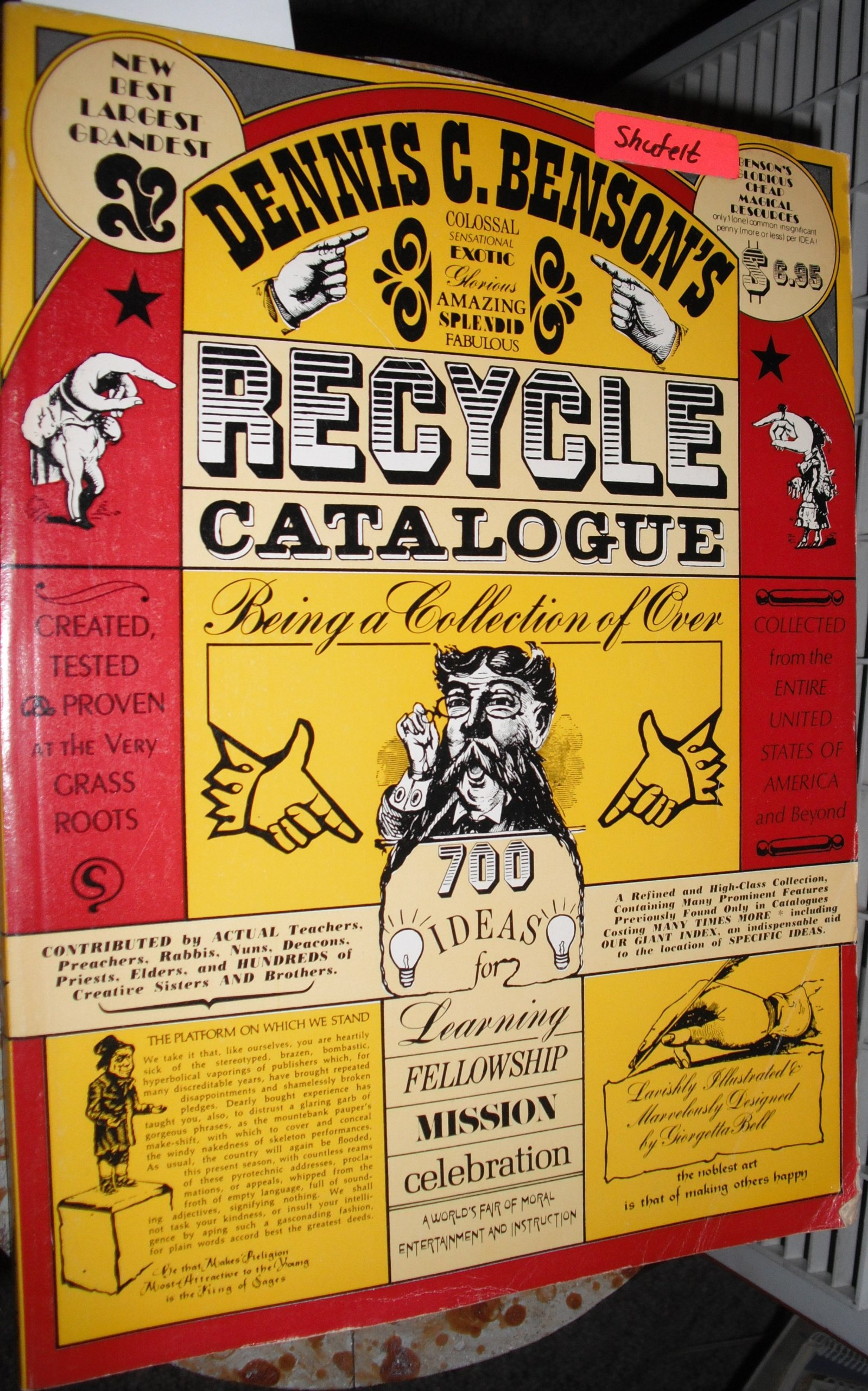 Dennis C. Benson's Recycle catalogue, Benson, Dennis C