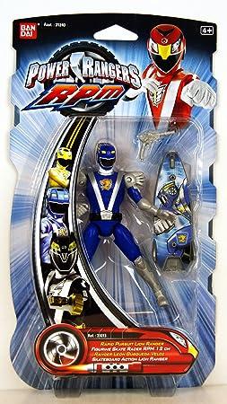 Power Ranger Figurine Skate Racer RPM Lion Bleu 31013