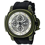 Invicta Men's Reserve Stainless Steel Automatic-self-Wind Watch with Silicone Strap, Black, 26 (Model: 23561)
