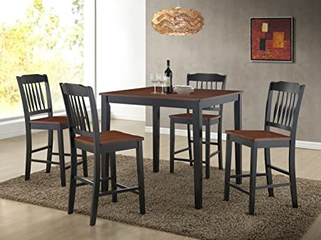 5pc Modern Solid Wood Counter Height Dining Set
