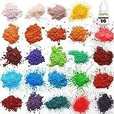 Mica powder – Soap Making Kit – Powdered Pigments Set – Soap making dye – 24 coloring - Hand Soap Making Supplies - Resin Dye - Mica Powder Organic for Soap Molds - Bath Bomb Dye Colorant – Makeup Dye (Color: 24 Color)