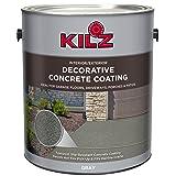 KILZ L378701 Interior/Exterior Slip-Resistant Decorative Concrete Paint, 1 Gallon, Gray (Color: Gray, Tamaño: 1 Gallon)